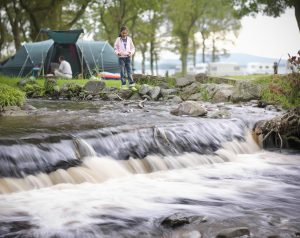 Image of campsite by Loch Lomond