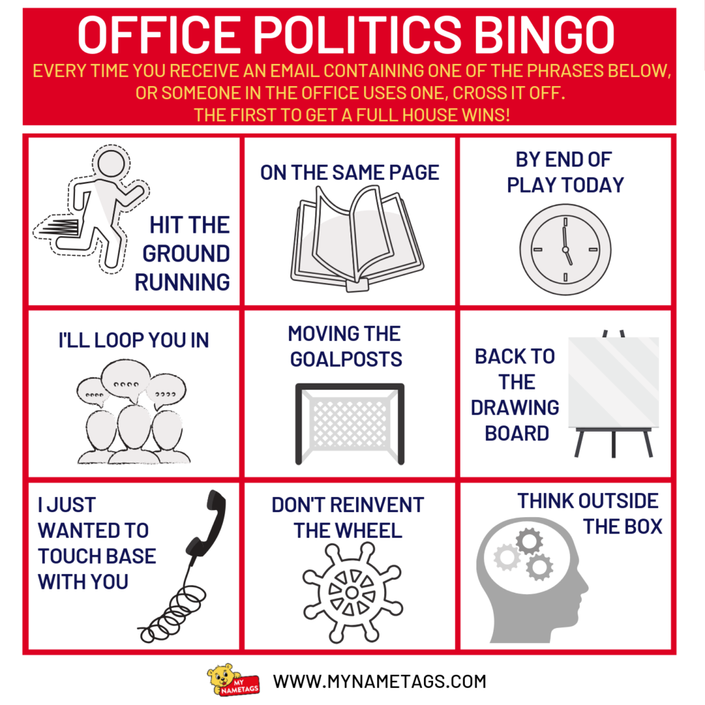 OFFICE POLITICS BINGO FINAL